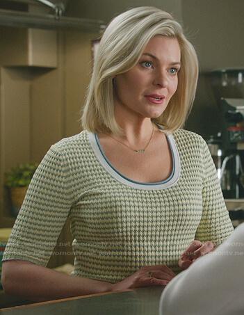Cassie's beige leopard sweater on Good Witch
