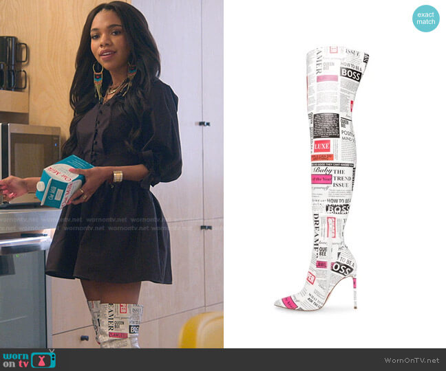 Vava Boots by Steve Madden worn by Teala Dunn on Good Trouble