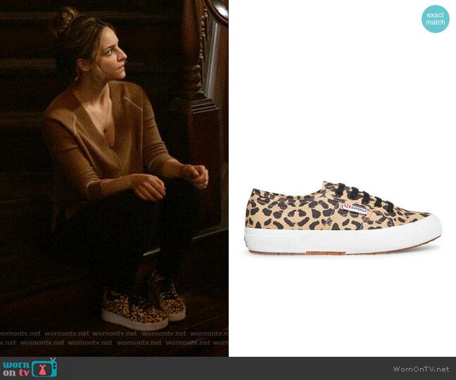 Superga 2750 Fantasy Cotu Black Leopard Sneaker worn by Zari Tomaz (Tala Ashe) on Legends of Tomorrow