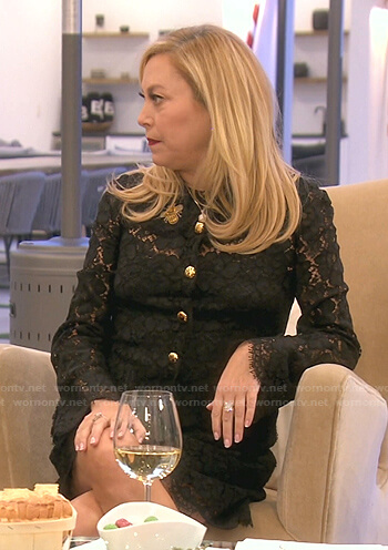 Sutton's black lace shirtdress on The Real Housewives of Beverly Hills