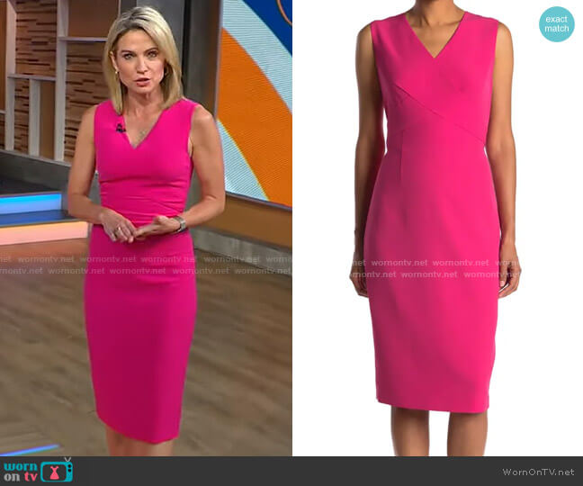 V-Neck Sleeveless Dress by Ted Baker worn by Amy Robach  on Good Morning America