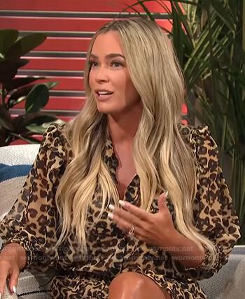 Teddi Mellencamp's leopard print ruffle dress on E! News Daily Pop