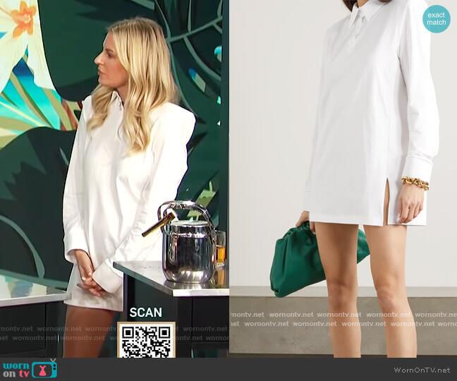 Astrid cotton-piqué mini shirt dress by The Attico worn by Morgan Stewart  on E! News