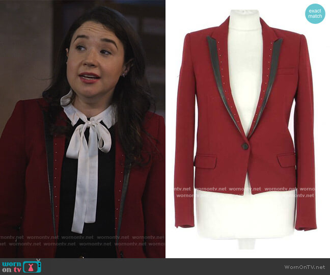 Studded Blazer by The Kooples worn by Marissa Gold (Sarah Steele) on The Good Fight