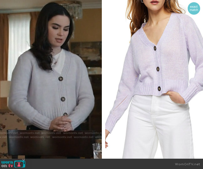Topshop Cropped Knitted Cardigan worn by Bella Whitmore (Landry Bender) on The Republic of Sarah