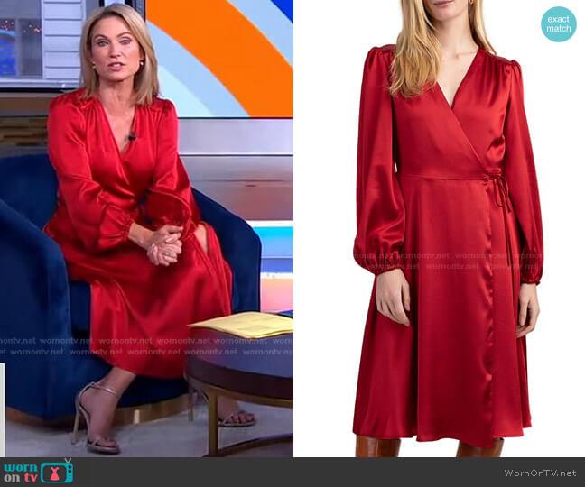 Fragrant Wrap Dress by Trina Turk worn by Amy Robach  on Good Morning America