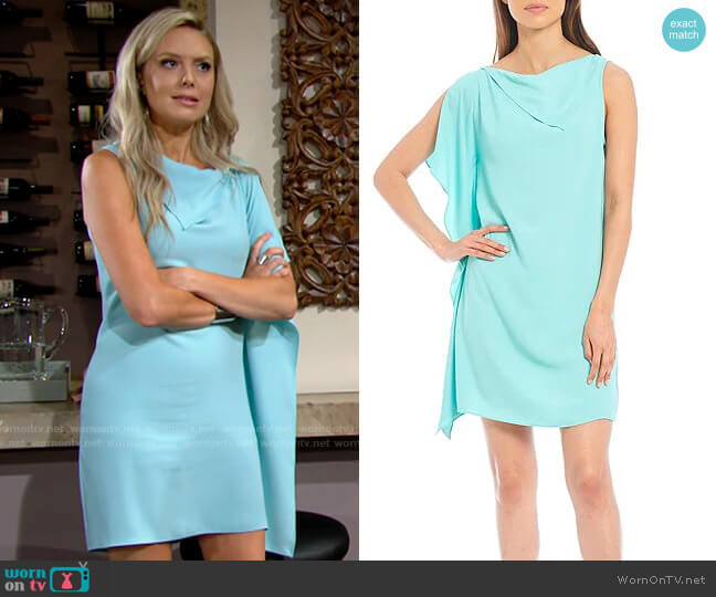 Trina Turk Ellyson Dress in Sea Glass worn by Abby Newman (Melissa Ordway) on The Young & the Restless