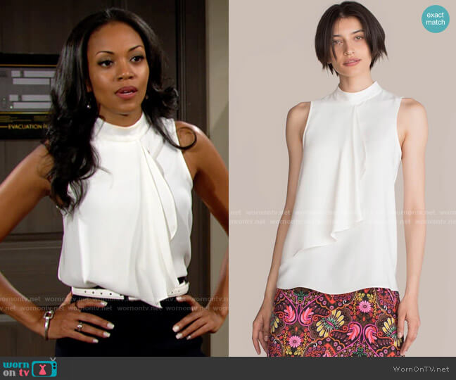 Trina Turk Mesmerizing Top worn by Amanda Sinclair (Mishael Morgan) on The Young & the Restless