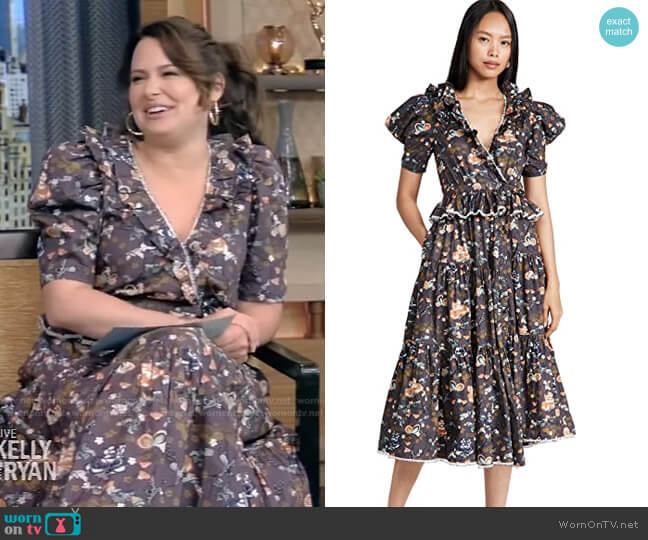 Olga Dress by Ulla Johnson worn by Katie Lowes on Live with Kelly and Ryan