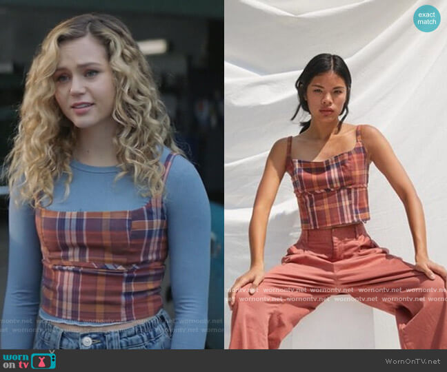 Plaid Crop Top by Urban Outfitters worn by Courtney Whitemore (Brec Bassinger) on Stargirl