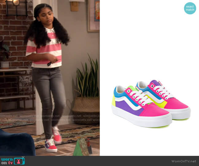 Vans Colorblock Old Skool Sneakers worn by Millicent (Jaidyn Triplett) on iCarly