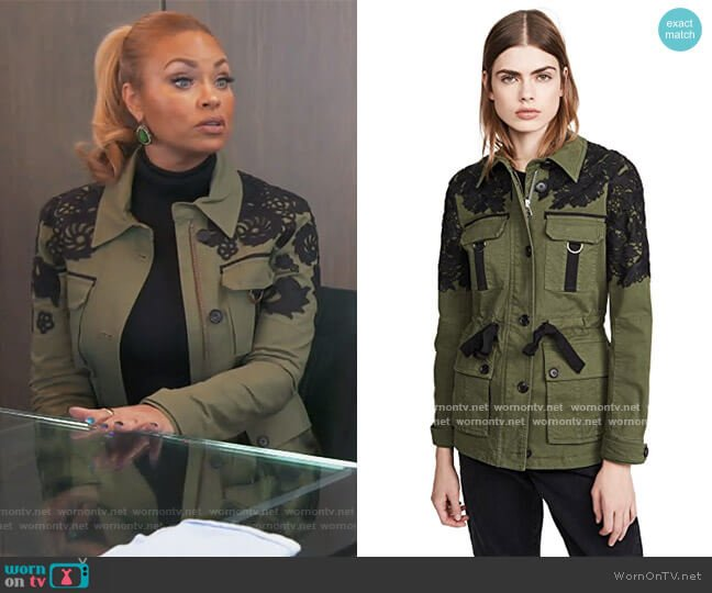Heritage Jacket by Veronica Beard worn by Gizelle Bryant  on The Real Housewives of Potomac