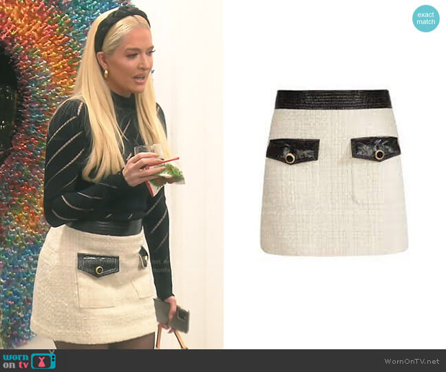 Lucy Mini Skirt by Veronica Beard worn by Erika Jayne  on The Real Housewives of Beverly Hills