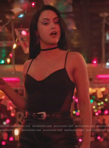Veronica's black cami on Riverdale
