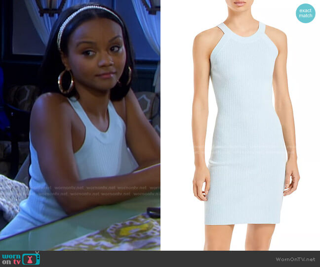 Ashley Halter Mini Dress by Wayf worn by Chanel Dupree (Raven Bowens) on Days of our Lives