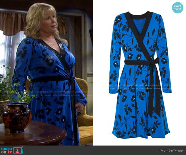 Reversible Jersey Knit Dress by White House Black Market worn by Bonnie Lockhart (Judi Evans) on Days of our Lives