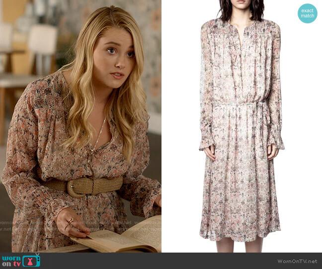 Zadig & Voltaire Raya Dress worn by Bernadette (Virginia Gardner) on American Horror Stories