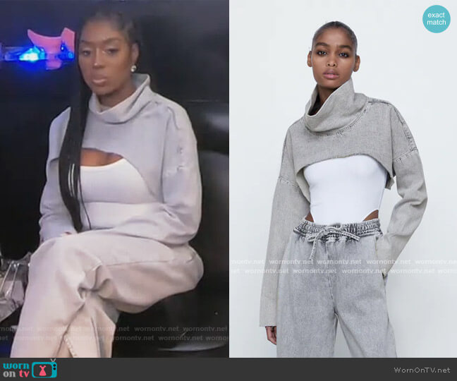 Crop Top by Zara worn by Wendy Osefo  on The Real Housewives of Potomac