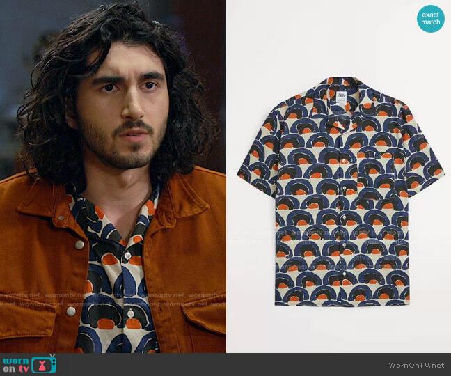 Zara Geometric Print Shirt worn by Behrad Tarazi (Shayan Sobhian) on Legends of Tomorrow