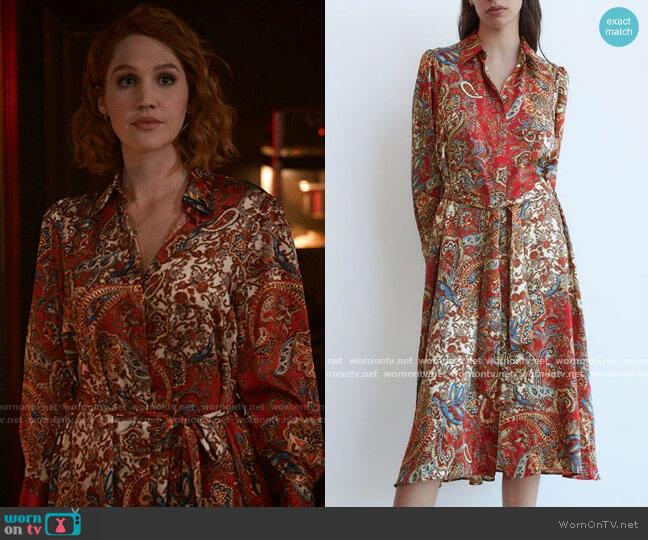 Zara Printed Shirtdress worn by Corinne Dearborn (Hope Lauren) on The Republic of Sarah