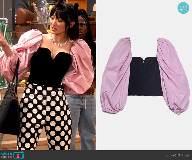 Zara Puff Sleeve Corset worn by Double Dutch worn by Double Dutch (Poppy Liu) on iCarly