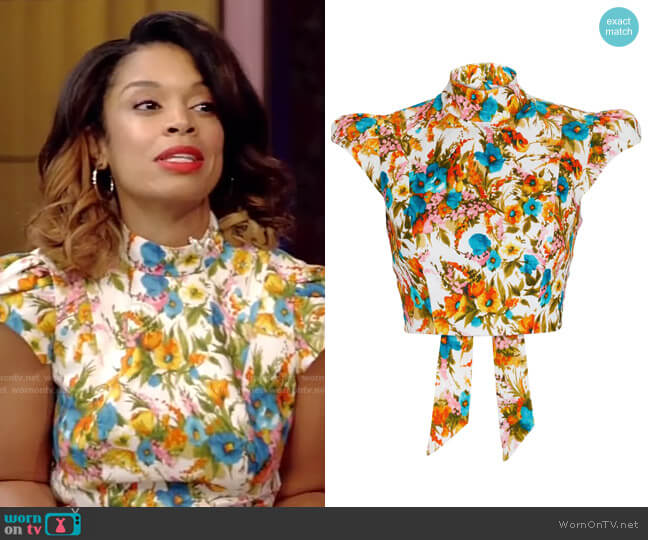 Estelle Cropped Top by Zimmermann worn by Susan Kelechi Watson on Live with Kelly and Ryan