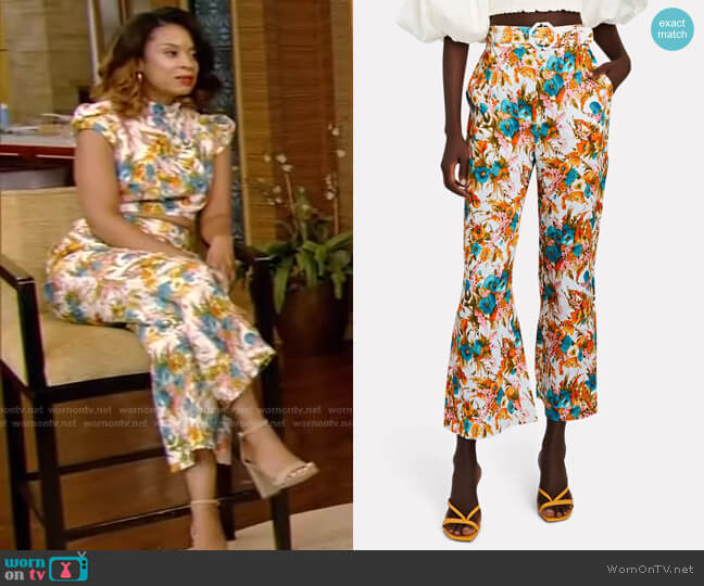 Estelle Pants by Zimmermann worn by Susan Kelechi Watson on Live with Kelly and Ryan