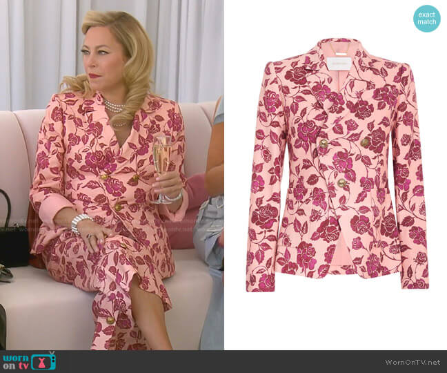The Lovestruck Tuxedo Jacket by Zimmermann worn by Sutton Stracke  on The Real Housewives of Beverly Hills