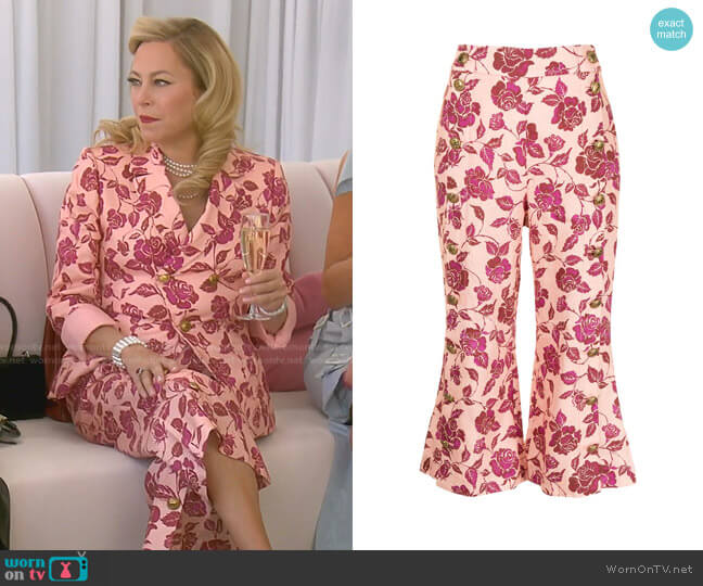 The Lovestruck Tuxedo Trousers by Zimmermann worn by Sutton Stracke  on The Real Housewives of Beverly Hills