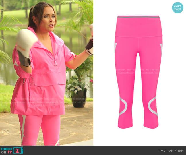 TruePace Cropped Leggings by Adidas by Stella McCartney worn by Cristal Jennings (Daniella Alonso) on Dynasty