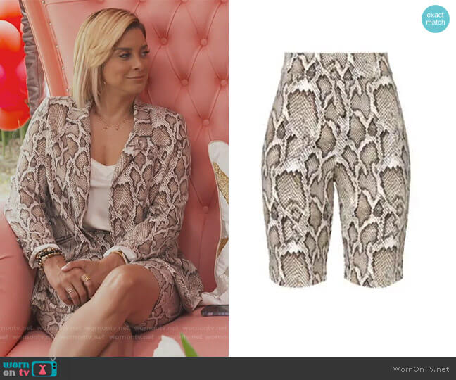 Callon Snake Print Biker Shorts by AFRM worn by Robyn Dixon  on The Real Housewives of Potomac