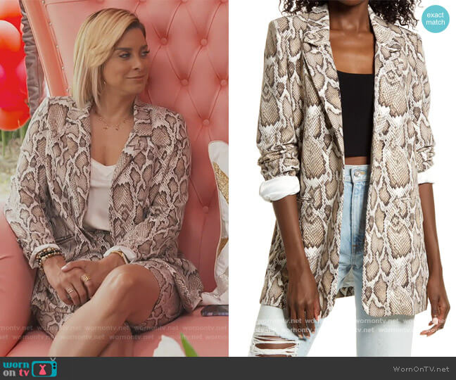 Curtis Blazer by AFRM worn by Robyn Dixon  on The Real Housewives of Potomac