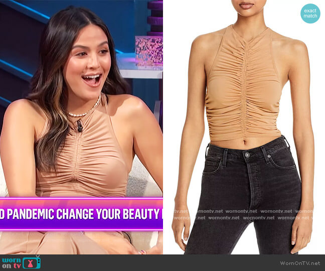 Adrienne Ruched Cropped Top by A.L.C. worn by Erin Lim  on E! News