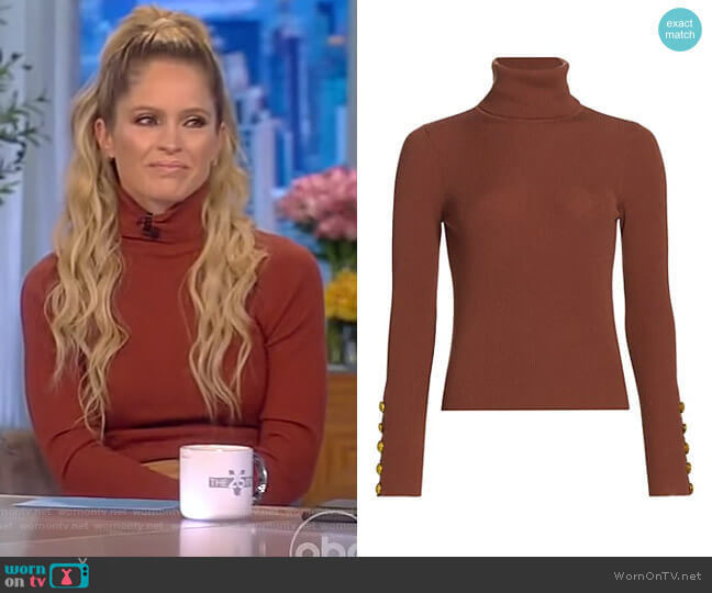 Desi Sweater by A.L.C. worn by Sara Haines  on The View