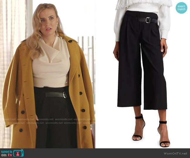 Adelina Pants by Alice + Olivia worn by Amanda Carrington (Eliza Bennett) on Dynasty