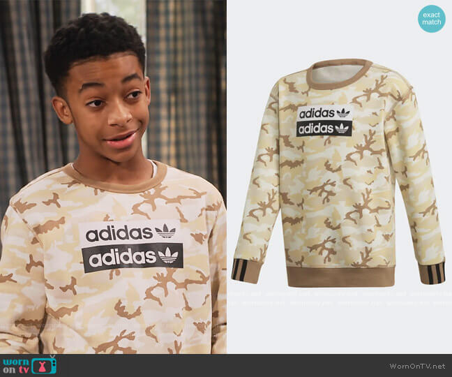 RYV Camouflage Sweatshirt by Adidas worn by Cameron J. Wright on Family Reunion