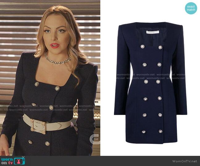 Embellished-Button Dress by Alessandra Rich worn by Fallon Carrington (Elizabeth Gillies) on Dynasty