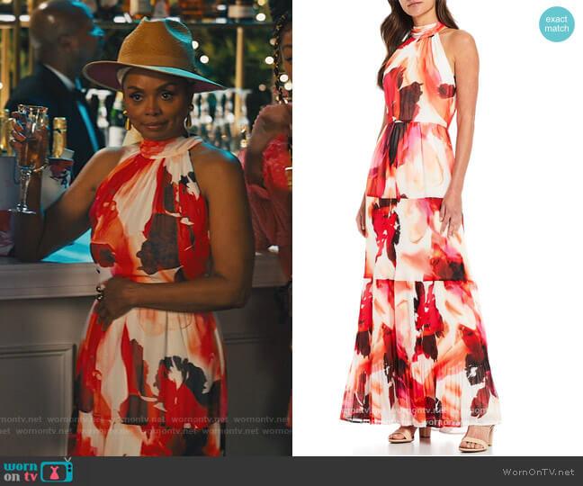 Alyssa Halter Maxi Dress by Alex Marie worn by Debbi Morgan on Our Kind of People