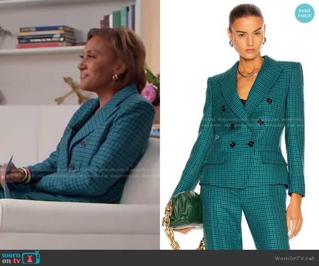 Double Breasted Blazer by Alexandre Vauthier worn by Robin Roberts  on Good Morning America