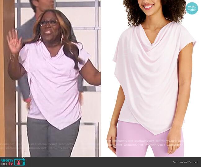 Asymmetrical Draped Top by Alfani worn by Sheryl Underwood  on The Talk