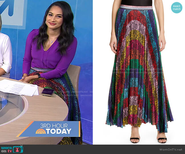 Katz Rainbow Snake Print Skirt by Alice + Olivia