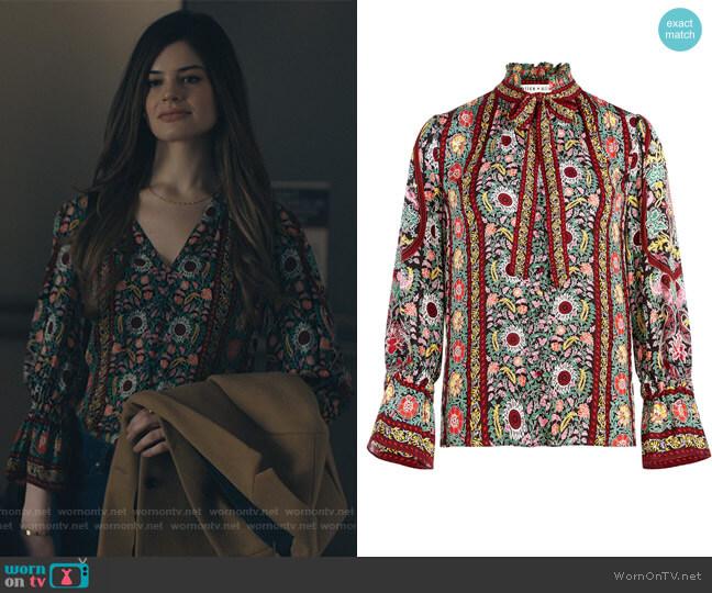 Reilly Flower Pot-print blouse by Alice + Olivia worn by Caroline Day on Billions