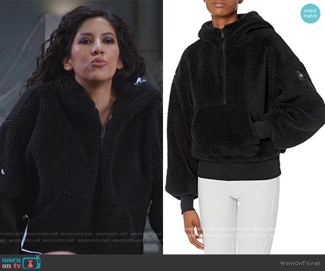 Streetside Half Zip Hoodie by Alo Yoga worn by Rosa Diaz (Stephanie Beatriz) on Brooklyn Nine-Nine
