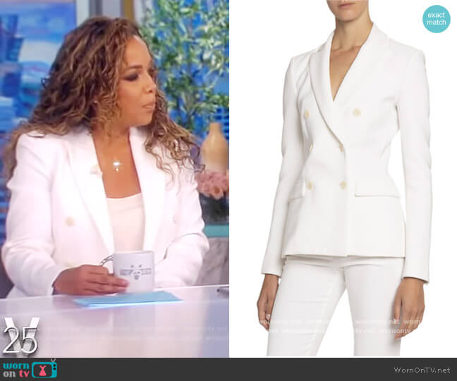 Double-Breasted Crepe Blazer by Altuzarra worn by Sunny Hostin  on The View