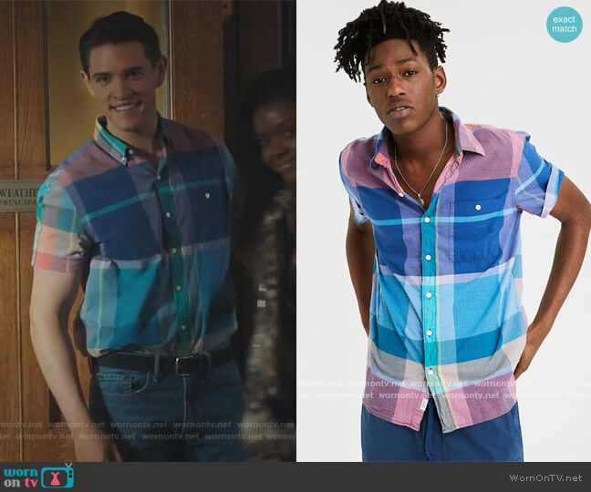 Mandras Shirt by American Eagle worn by  Casey Cott on Riverdale
