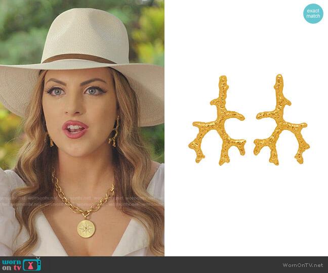 Aquata Earrings by Angelina Alvarez worn by Fallon Carrington (Elizabeth Gillies) on Dynasty