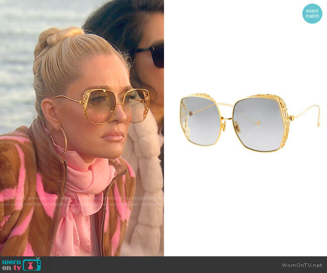 Square Framed Sunglasses by Anna Karin Karlsson worn by Erika Jayne  on The Real Housewives of Beverly Hills