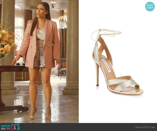 Ari Sandals by Aquazzura worn by Cristal Jennings (Daniella Alonso) on Dynasty