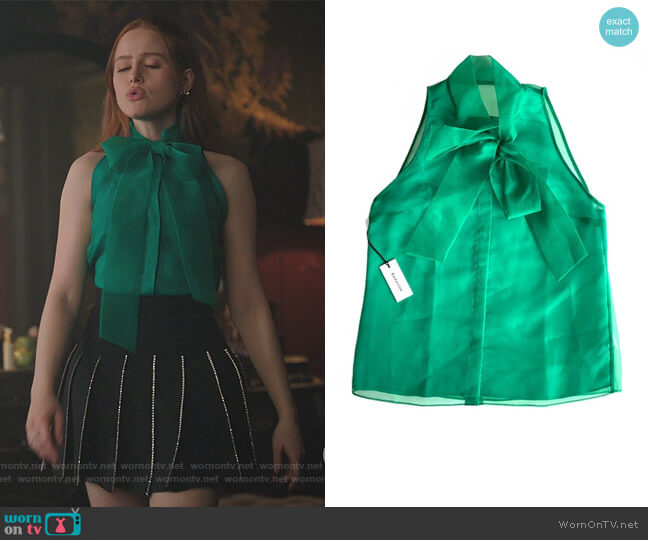 Julious Blouse by Babaton at Aritzia worn by Cheryl Blossom (Madelaine Petsch) on Riverdale