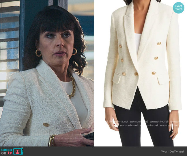 Tweed Blazer by L'Agence worn by Kathleen Gale (Constance Zimmer) on Good Trouble
